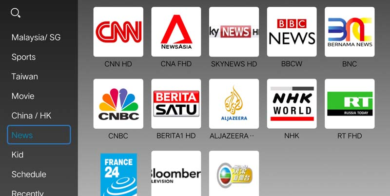 IPTV Astro Package, IPTV Malaysia Subscription - Chinadreambox